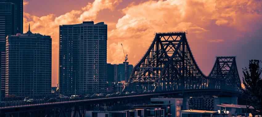 brisbane bridge sunset ta
