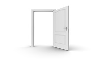 door open  x