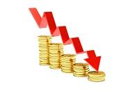 money decrease  x