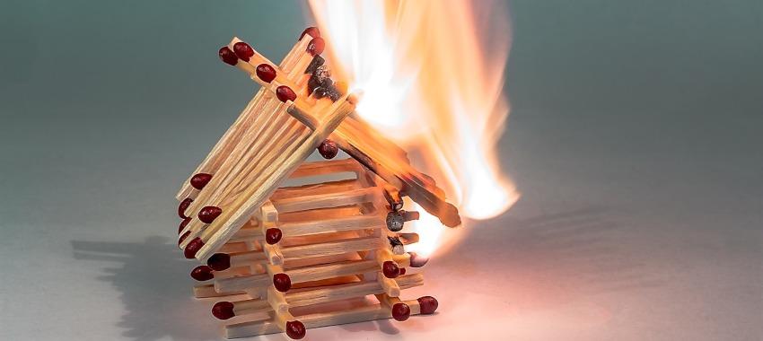 burning house ta
