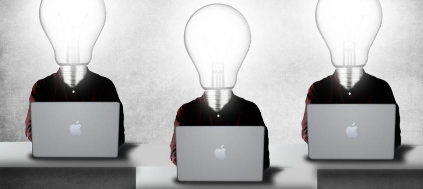 businessman brokers laptop
