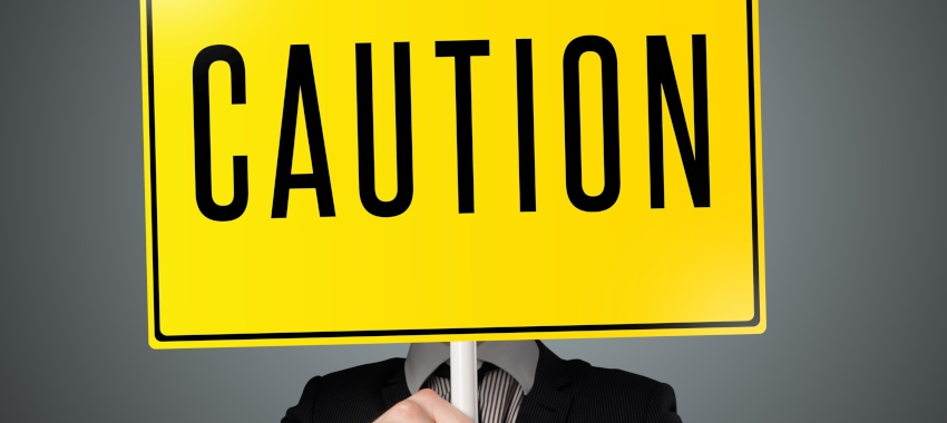 caution hand ta
