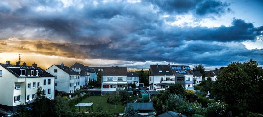 cloudy sky suburb ta
