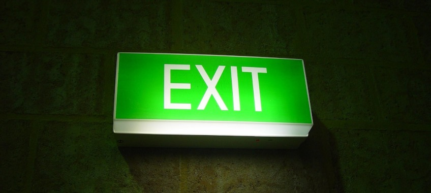 exit leave ta