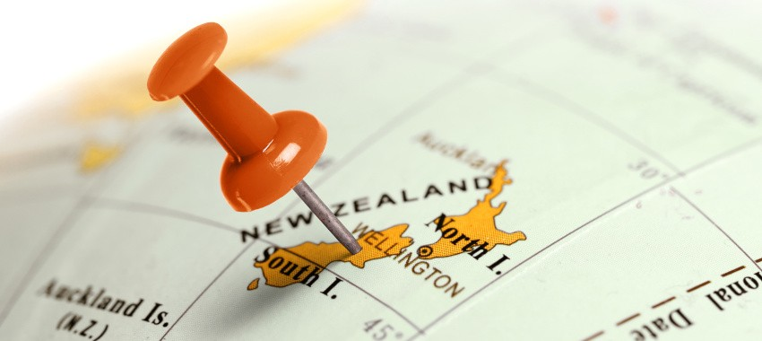 newzealand map ta