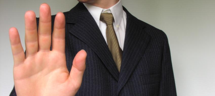 stop hand businessman
