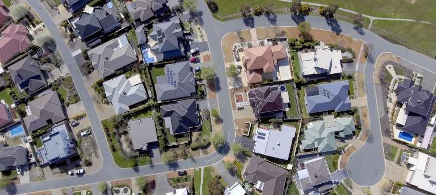 suburbs aerial ta