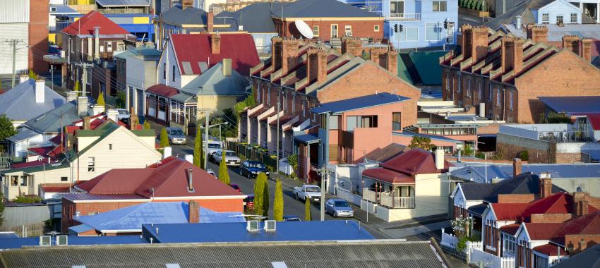 suburbs houses street ta