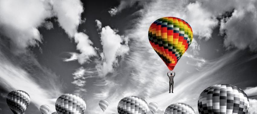 colored balloon ta