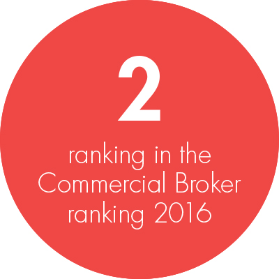 Commercial Business Writers 2016, Broker Ranking