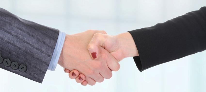 handshake male female ta
