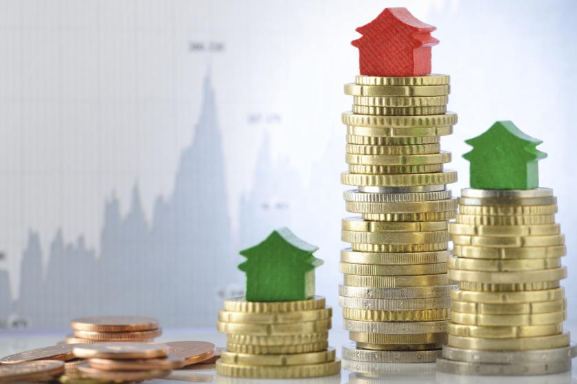 houses on money