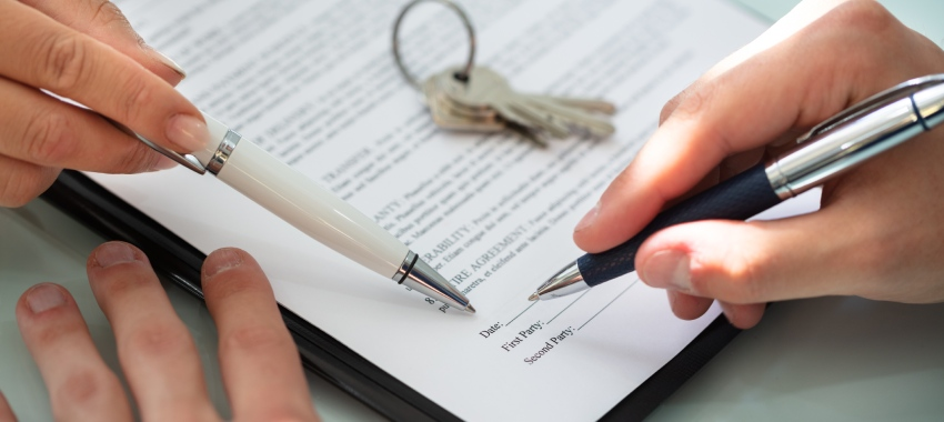 mortgage document sign ta