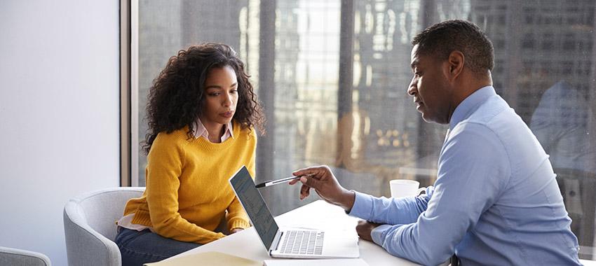 woman financia counselling ta