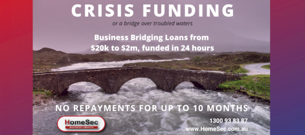 Crisis funding banner   HomeSec Business Finance